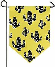 REFFW Garten Kaktus Pflanze schwarz gelb