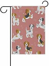 REFFW Rosa Hundeknochen-Vintage-Banner für