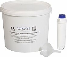 Refill-Set Original DeLonghi Wasserfilter SER3017 als Umbau zur Refill - Nachfüllpatrone mit 5 Liter Filtergranula
