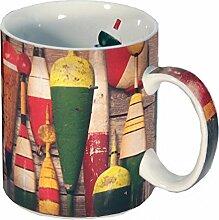 Reflective Art Vintage Bobbers Kaffeebecher, 454 ml
