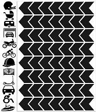 Reflektierende Aufkleber für Fahrräder,