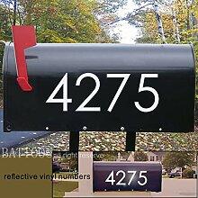 Reflektierende Briefkasten-Nummern Aufkleber