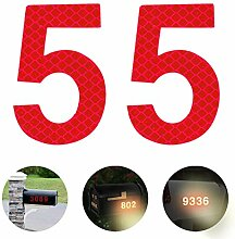 Reflektierende Hausnummer 5 aus Edelstahl, 7cm