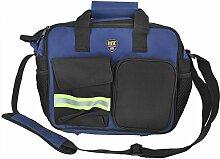 Reflektierende Streifen Design 24kleine Taschen, blau Leinwand Werkzeugaufnahme Tasche