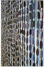 Refue Braun Holz Perlenvorhang, 40-80 Stränge