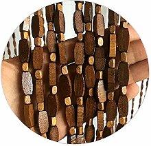 Refue Holzperlenvorhang für Tür, perlen