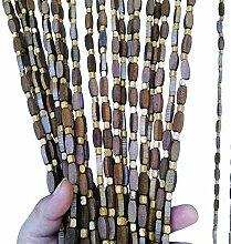 Refue Raumteiler Türvorhang Perlen Vorhang Amber