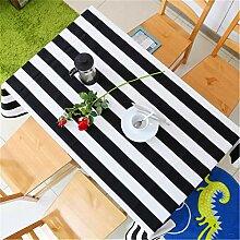 Refuelr Schwarz Weiß Streifen Dekorative Tuch