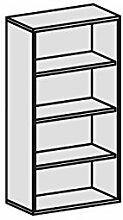 Regal, 3 Dekor-Einlegeböden, 800x425x1536, Weiß