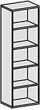 Regal, 4 Dekor-Einlegeböden, 600x425x1920,