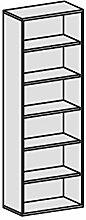 Regal, 5 Dekor-Einlegeböden, 800x425x2304, Buche
