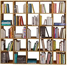 Regal, Bücherregal, Bibliothek COMFORT 180 x 30 x 174 cm mit offenen Fächerm, Eiche massiv, geöl