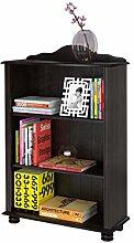 Regal Bücherregal JASMIN im Landhausstil aus Kiefer massiv in havanna dunkel braun