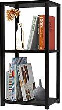 Regal Bücherregal Standregal Mehrzweckregal DANKE 60 x 79 cm, 2 Fächer, schwarz