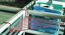 Regal, Büro Dreieck Eisen Blume Racks Schreibtisch Regal Tischplatte Regal Balkon Corner Incorporated ( Farbe : Rot )