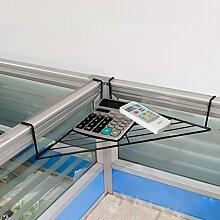 Regal, Büro Dreieck Eisen Blume Racks Schreibtisch Regal Tischplatte Regal Balkon Corner Incorporated ( Farbe : Schwarz )