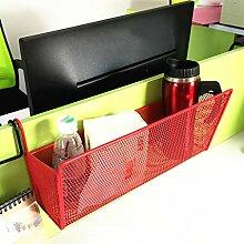 Regal, College Studenten Schlafsaal Zimmer Nachttisch Lagerregal Schlafzimmer Regal Oberer Anlegeplatz Bedside Verschlüsselungskorb Creative Hanging Korb ( Farbe : Rot )