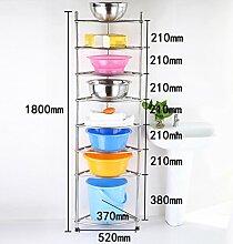 Regal Edelstahl dreieckig Rack Küche Topf mit Waschbecken Multi - Layer dicken Boden Waschbecken ( größe : B6 )