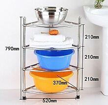 Regal Edelstahl dreieckig Rack Küche Topf mit Waschbecken Multi - Layer dicken Boden Waschbecken ( größe : A2 )