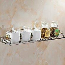 Regal Edelstahl Geräte Utensilien Rack Geschirr Geschirr Küche hängende multifunktionale Lagerung Rack ( größe : C )