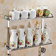 Regal Edelstahl Geräte Utensilien Rack Geschirr Geschirr Küche hängende multifunktionale Lagerung Rack ( größe : G )