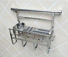 Regal-Edelstahl-Küche-Speicher-Regal-Küche-Regal-Gewürz-Gestell-Küche-hängende Wand ( größe : A2 )