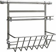Regal-Edelstahl-Küche-Speicher-Regal-Küche-Regal-Gewürz-Gestell-Küche-hängende Wand ( größe : B )