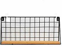 Regal Eisen Net Massivholz Trennwand Regal Wand