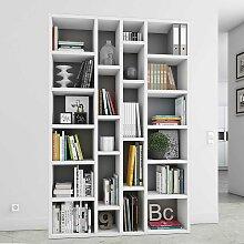 Regal für Bücher Weiß lackiert