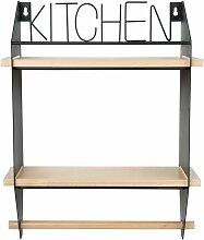 Regal für Küchenrollenhalter aus Kiefernholz und