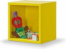 Regal gelb, Regalwürfel, Cube gelb, Click System: keine Schrauben und Dübel