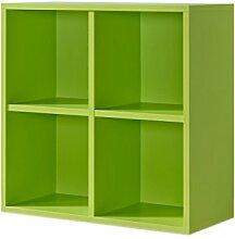 Regal grün, Regalwürfel, 4er Cube grün, Regal,