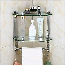 Regal Handtuchhalter Glas mit Handtuchhalter