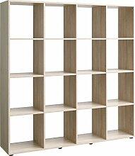 Regal, Holz, eiche, 32 x 139 x 144 cm