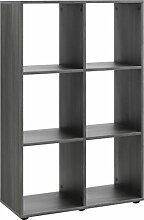 Regal, Holz, silbereiche, 32 x 70 x 109 cm