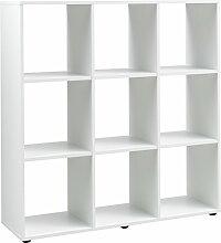 Regal, Holz, weiß, 32 x 105 x 109 cm