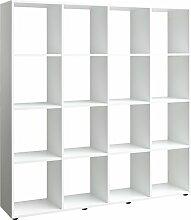 Regal, Holz, weiß, 32 x 139 x 144 cm