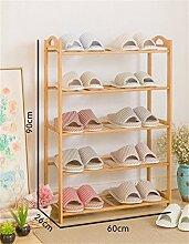 Regal im Wohnzimmer Schlafzimmer Küche 5 Tier Schuh Rack Massivholz Einfache Lagerung Schrank Möbel Kreative Einfachheit Bambus Organizer Regale Dekoration Rack YYJRR-Eckregale ( größe : 60 )