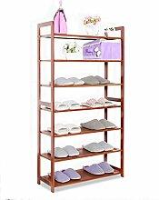 Regal im Wohnzimmer Schlafzimmer Küche 7 Tier Schuh-Rack Hölzerne Lagerung Schrank Möbel Schuh Veranstalter Bambus Regal Für 21 Paare Dekoration Rack YYJRR-Eckregale