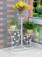 Regal im Wohnzimmer Schlafzimmer Küche Iron Flower Rack Indoor und Outdoor Multi - Storey Pot Racks Garten Balkon Blumen Stand Dekoration Rack YYJRR-Eckregale ( Farbe : A )