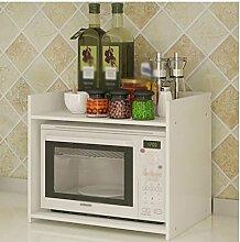 Regal im Wohnzimmer Schlafzimmer Küche Mikrowelle Ofen Rack Küche Regal Küchengeschirr Lagerung Rack Küche Supplies Storage Warm White 54 * 40 * 45CM Dekoration Rack YYJRR-Eckregale