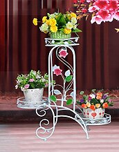 Regal im Wohnzimmer Schlafzimmer Küche Outdoor Flower Frame Multi - Storey Indoor Balkon Europäische Blumentopf Rack Dekoration Rack YYJRR-Eckregale ( Farbe : A , größe : 60*69cm )