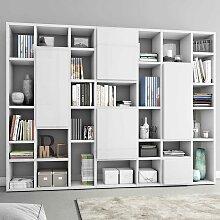 Regal in Weiß Hochglanz für Bücher