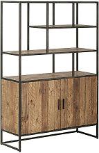REGAL Kiefer, Recyclingholz massiv Kieferfarben,
