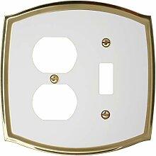 Regal kolonial Dekorative Switch Plate,-, Messing
