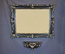 Regal Konsole + Spiegel groß schwarz gold 86 x 67