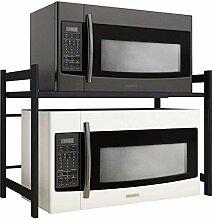 regal küchenregal mikrowellenregal - schwarz