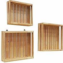 Regal Massivholz Wand Regal Einfach Modern Dekorativ Kreativ Regal Rahmen Wohnzimmer Schlafzimmer Wand Staub Regal
