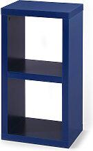 Regal mit 2 Fächern, blau