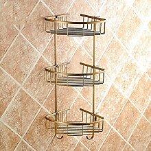 Regal Multifunktions-Regal Alle Kupfer Antique Badezimmer Badezimmer Regal Wandhalter Badezimmer Zubehör
